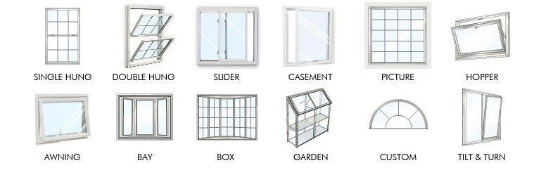Por Types Of New Replacement Windows